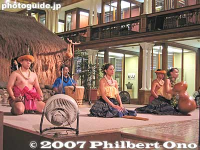 Bishop Museum hula show