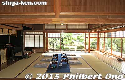 Japanese-style room with garden view.