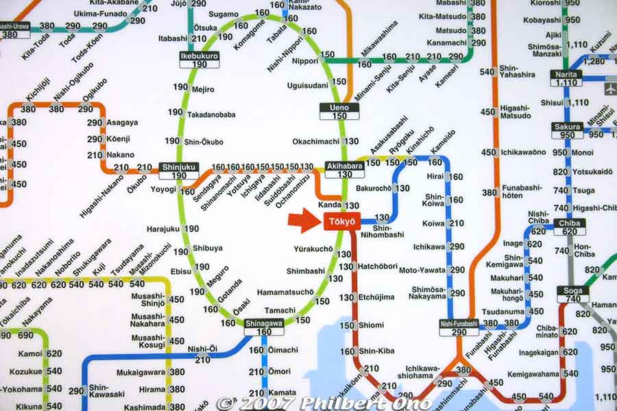 Tokyo Station 東京駅 Train Line Map And Fares In English JAPAN - Japan map english version