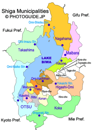 Map of Shiga